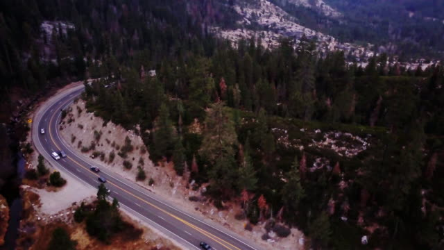 Mountain Highway - Aerial View video