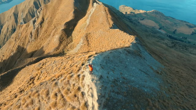 Mountain Hikers at Mt. Roy Peak