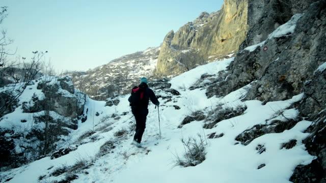 Mountain hiking video