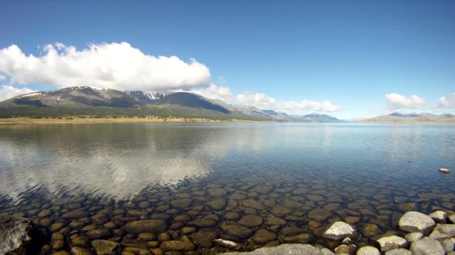 Mountain lake Khoton Nuur in Mongolian Altai timelapse video