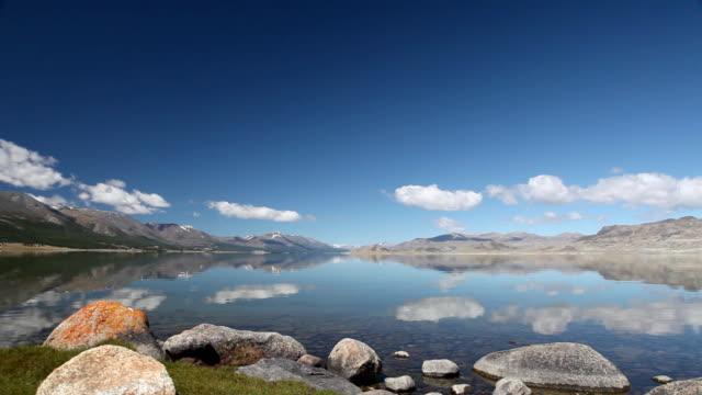 Mountain lake Khoton Nuur in Mongolian Altai video