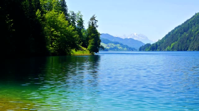 Mountain lake. video