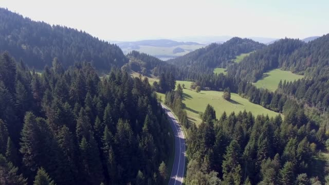 Mountain landcsape at summer time in south of Poland. View from above.
