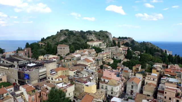 由村陶爾米納,義大利山風景 - sicily 個影片檔及 b 捲影像