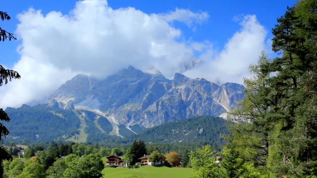 Mountain landscape in the italian alps video