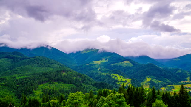 Mountain Landscape with Clouds video