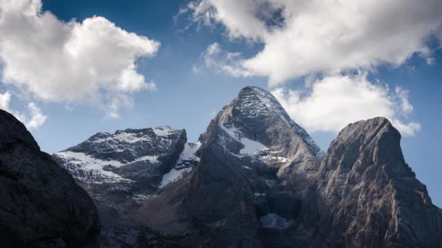 Mountain peak european alps Italy , Time Lapse video