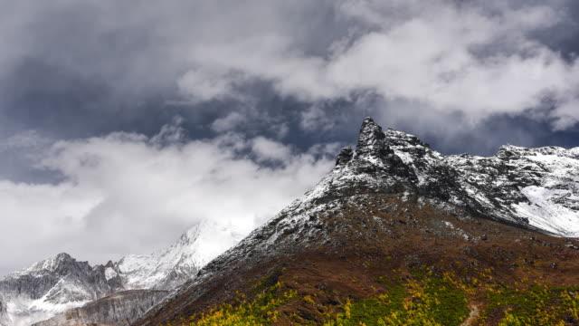 Mountain peak, Yading national level reserve, Daocheng, Sichuan Province, China. video