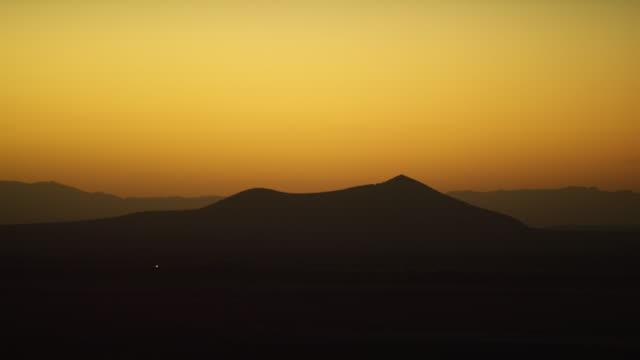 Mountain Peaks at Dusk in Nevada