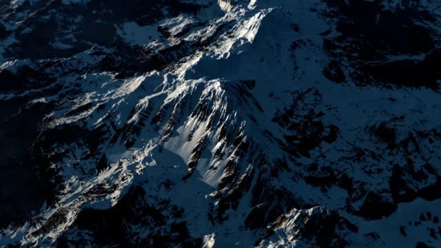 Mountain range at high altitude. video