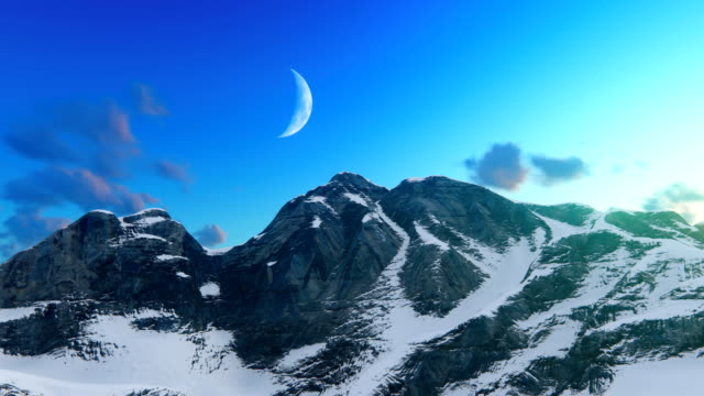 Mountain ridge with snow video
