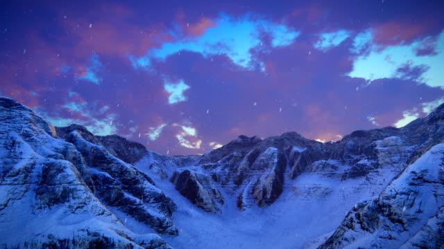 Mountain ridge with snow video