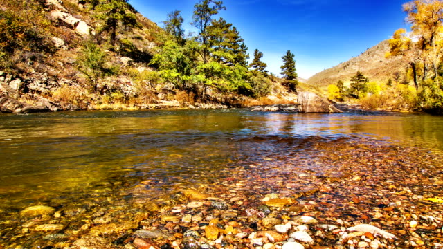 Mountain river and clear water video