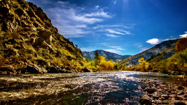 mountain river. - kaskaden gebirge stock-videos und b-roll-filmmaterial