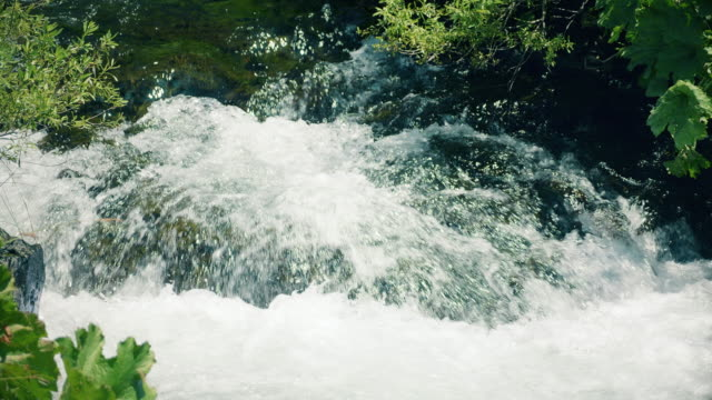Mountain river waterfalls. video
