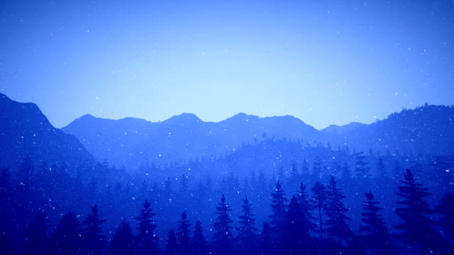 Mountain silhouettes and snow video