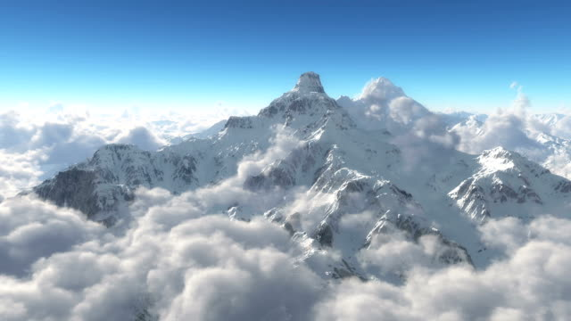 mountain snow clouds video