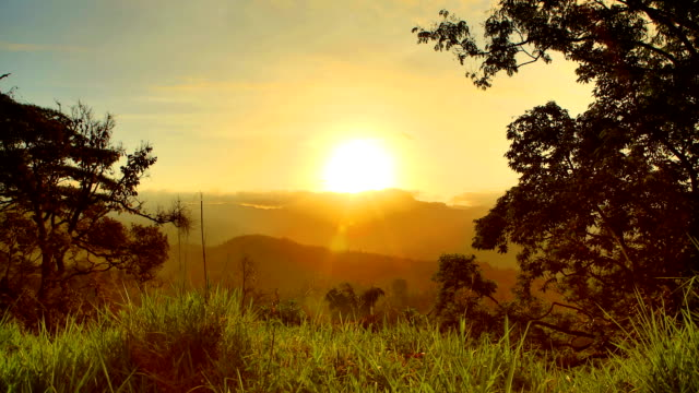 Mountain Sunrise, Central Province, Sri Lanka video