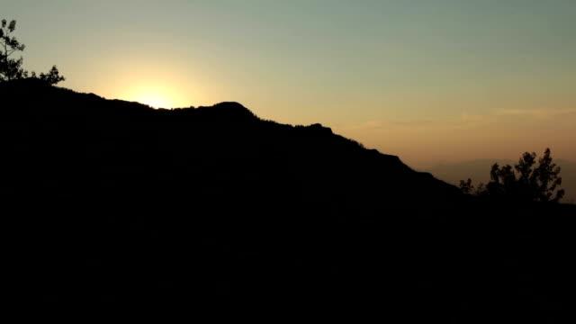 Mountain sunset video