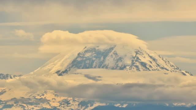Mountain Time Lapse Mt Rainier Zoom