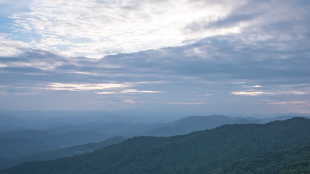 Mountain timelapse at dusk,Summer time video