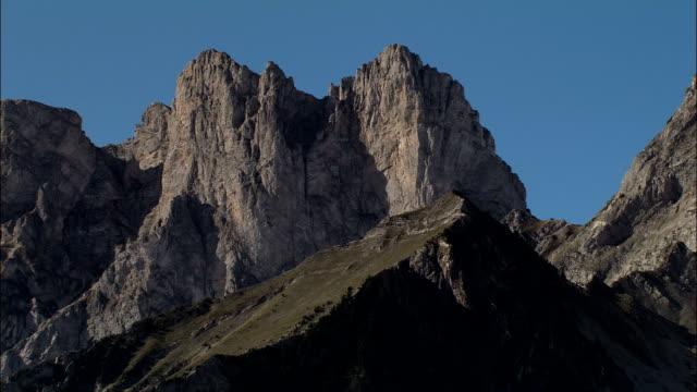 mountain top - aerial view - provence-alpes-côte d'azur, hautes-alpes, france - hautes alpes stock videos & royalty-free footage