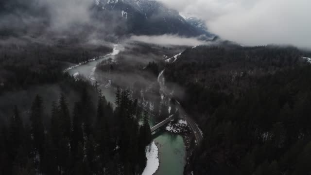 Mountain Valley Highway Tunnel Transportation Aerial video