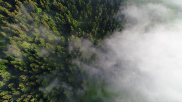 Mountain village under cloudy sky video
