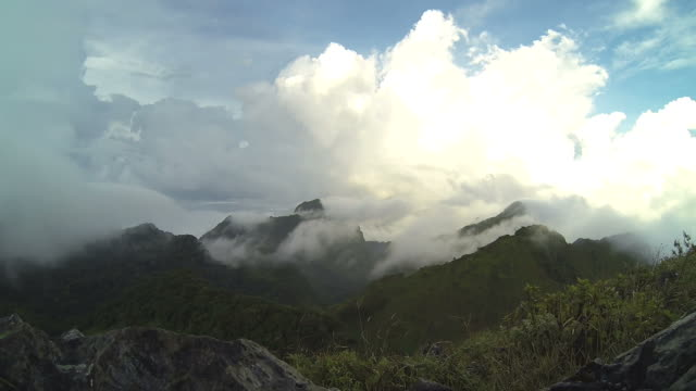 Mountain with mist and cloud video