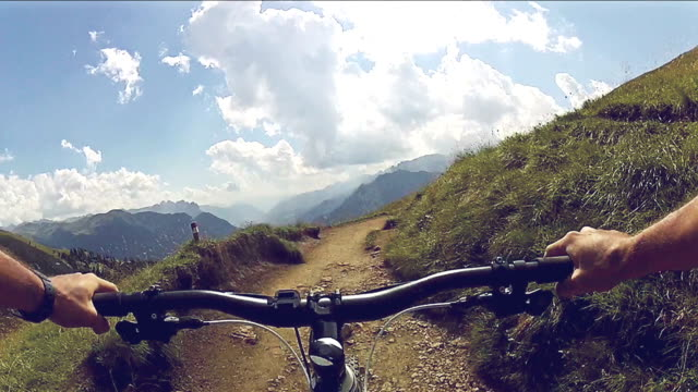 Mountainbike on the alps and dolomites video