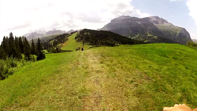 Mountainbike on-board video on the Alps video