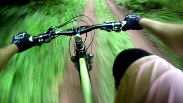 Mountainbike rider, POV video