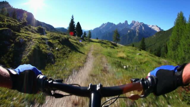 POV Mountainbiking On High Mountain Trail video
