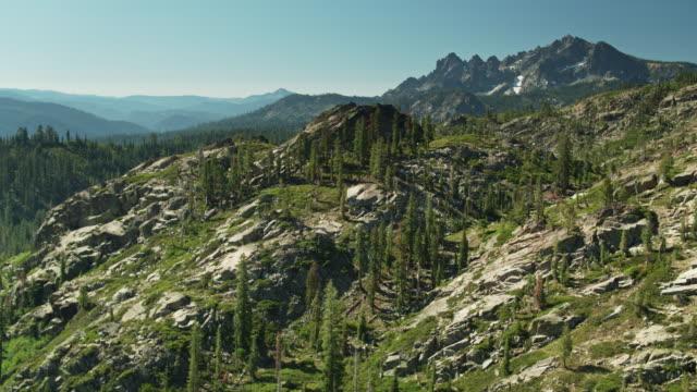 Mountainous Landscape Around Sierra Buttes - Aerial