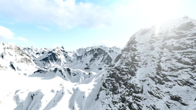 Mountains and clouds, aerial shot sunny video