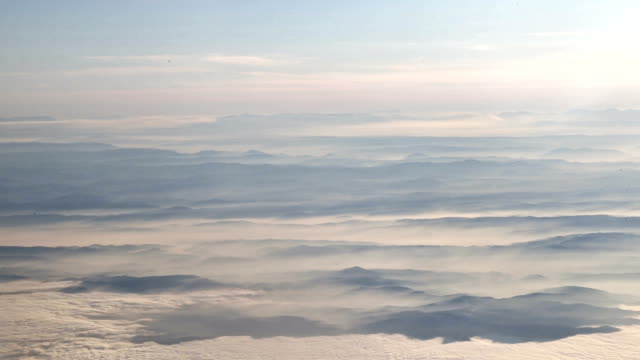 Mountains and clouds from high above