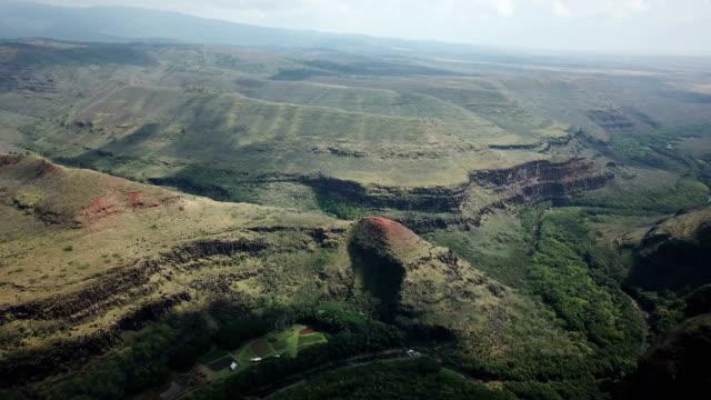 Mountains and Plateaus on Waimea Island by Drone video