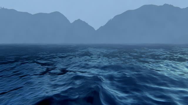 mountains and rough seas - krajobraz morski filmów i materiałów b-roll