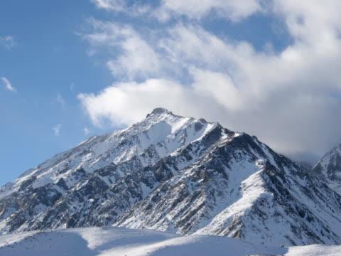 mountains d time-lapse ntsc - donmuş su stok videoları ve detay görüntü çekimi