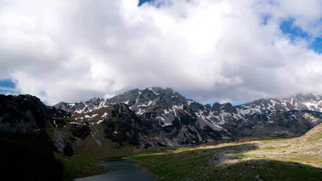 Mountains inside a national park Durmitor, Montenegro video