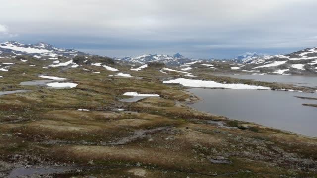 Mountains landscape. Norwegian route Sognefjellet video