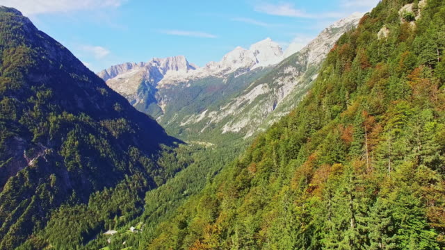 AERIAL Mountains surrounding the valley video