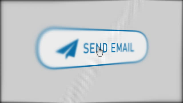 Mouse cursor clicking SEND EMAIL button. Mouse cursor clicking SEND EMAIL button. email icon stock videos & royalty-free footage