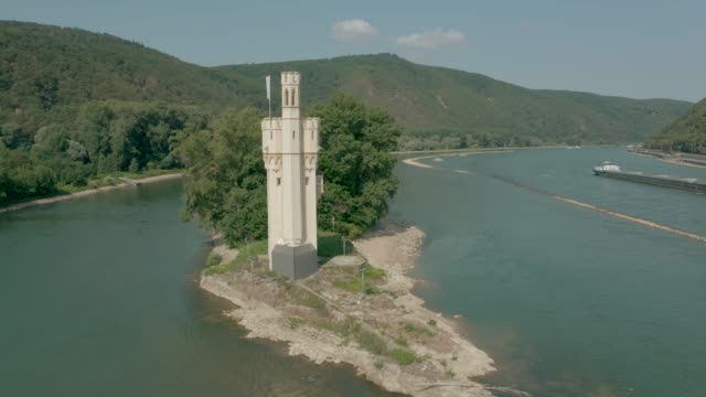 Mouse Tower on the Rhine River