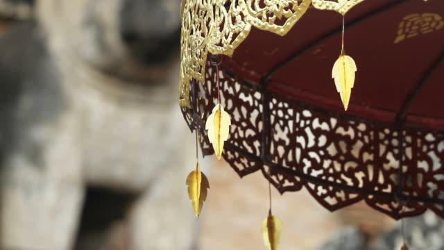 Movement of Buddhist Umbrella video