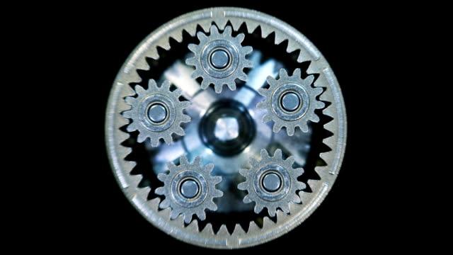 movement of metal gears in a mechanical device. gearbox - växelspak bildbanksvideor och videomaterial från bakom kulisserna