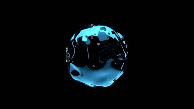 movement of water droplets in space. 3d rendering. - tridimensionale video stock e b–roll