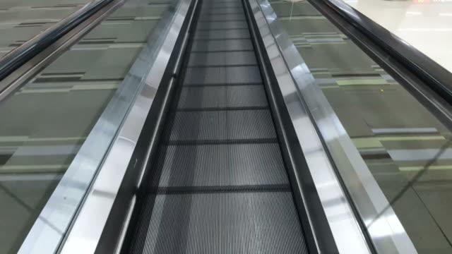 Movement on the escalator seamless loop