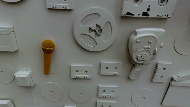 Movie Camera, Film, Microphone, Wall video