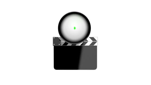 vidéos et rushes de film clapper conseil vidéo d'intro - ardoise